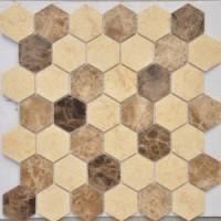 TES78349 Pietra Mix 1 MAT hex 18x30x6x0.6 29.5x30.5