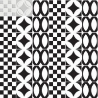 7VFBGML Deco Dantan Comp.Mosaico 36pz Blanc-Gris 30x30