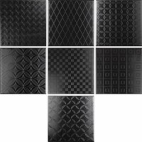 928137 Настенная плитка DECOR BLACK&WHITE NEGRO MIX 9 MM Cas Ceramica 20x20