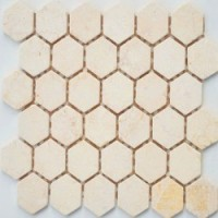 TES78344 Crema Marfil MAT hex 18x30x6x0.6 29.5x30.5