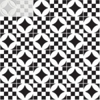 7VFBGMC  Deco Dantan Comp.Mosaico 36pz Blanc-Gris 30x30