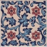 ALIC3E Alice Blue decorative field tile 15x15