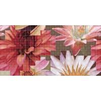 TES94906 Decor mosaico crema flor-1 25x50