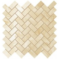 600110000205  Supernova Onyx Honey Amber Herringbone Mosaic 30,5x30,5 30.5x30.5