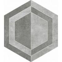TES14247 Scratch Grys Heksagon B Mat. 26x29.8