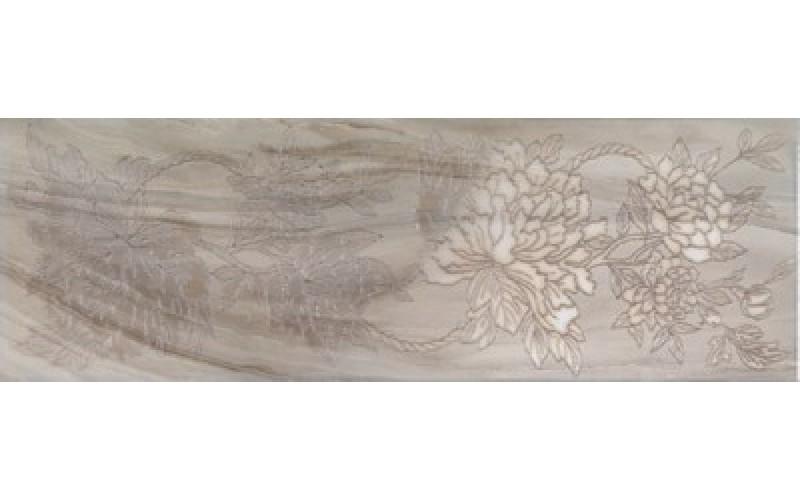 Керамическая плитка INSERTI PEONIA GREY  25x75 ArtyCer TES105957