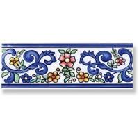 934542 Бордюр TIRA AMAYA AZUL Cas Ceramica 7.5x20