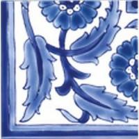 DOO1010A26 Angle Palmyre Bleu 10x10