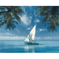 TES102380 Ocean Sailboat (комплект 2xт) 40x50