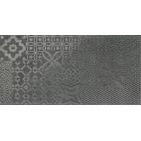 00286 Castlestone inciso black lap/ret 30x60