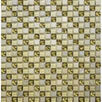 2028 №  диагональ мрамор бежевый-молочный-золото (1.5x1.5) 30x30