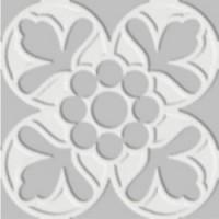 7VFBG0F Deco Dantan Fleur Blank-Gris 10x10