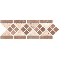 Mosaico Toscana 10X30.5. незаполненный травертин