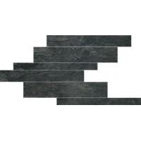 739367 Ardoise Noir Modulo Listello Sfalsato 21x40