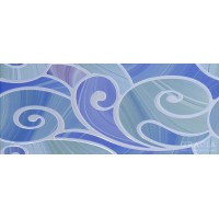 Arabeski blue decor 01 25x60
