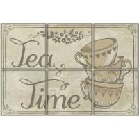 TD-VV-D-BRU  Vintage Voyage Tea Time 20x30