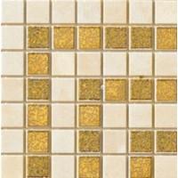 Girospecchio Greca Beige Gold 37285