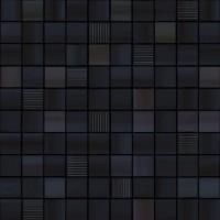 TES79218 Waves Negro Mosaico 31.6x31.6