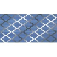 Бухара платина синий 25x50