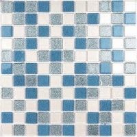 Shine Blue (стекло) 30x30