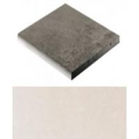 2XD08B1 Warm Stones Gradino Bull Nose 1 Lato White 61x61
