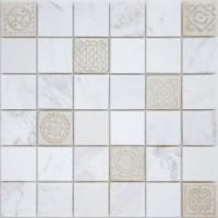 TES76344 Art Dolomiti bianco MAT 48x48x8x0.8 30x30
