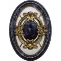 Керамическая плитка  черная под мрамор El Molino TES96607