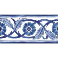 DOO1020F26 Frise Palmyre Bleu 10x20