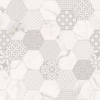 TES14258 Infinito White Hexagon matte 120x120