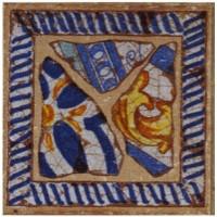 923613 Вставка GR6. TACO LA BALMA AZUL Gresan 12x12