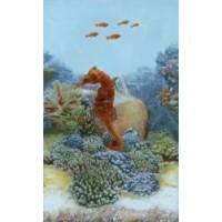 Керамическая плитка для ванной морская волна 341911/2 Кировская керамика