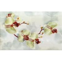 Керамическая плитка  с орхидеями Кировская керамика 345222