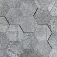 L108040311 Amsterdam 3D Hexagon Grey 19x19