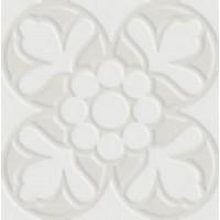 7VF080F Deco Dantan Fleur Blanc 10x10