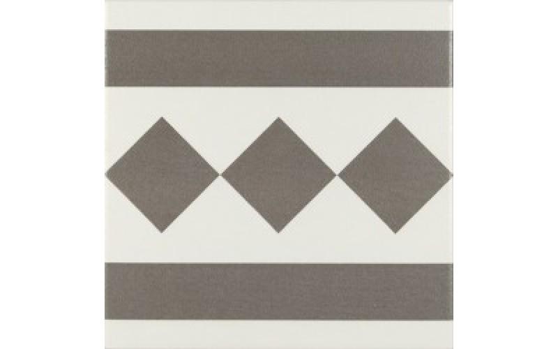 Керамическая плитка  ANTIGUA GRIS 002 CENEFA  20x20 Ribesalbes PT02114