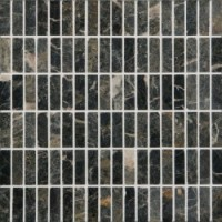 SMSB1A 30.5x30.5x1  Natural Mosaic Black Rectangular
