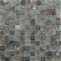 Коллекция Мозаика стеклянная с камнем