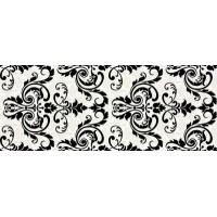 Керамическая плитка  для ванной черно-белая Ceradim TES102393