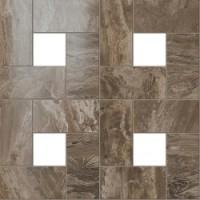 610110000066  S.M. Woodstone Taupe Mosaic Lap 45x45