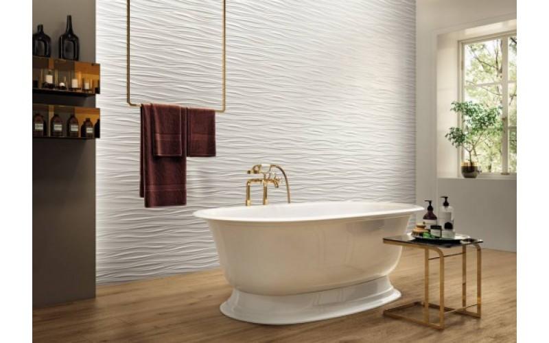 Керамическая плитка Коллекция 3D White Wall