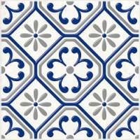 Керамическая плитка  для ванной синяя 04-01-1-14-03-65-1000-1
