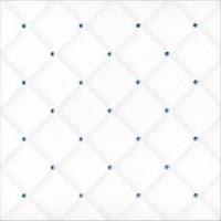 DOU2020M13 Carreau Matelasse Blanc Points Bleus 20x20