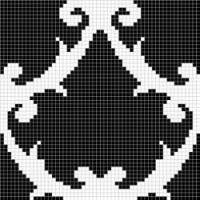 Мозаика  черно-белая MZ-08 Alma