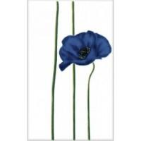340012 Моноколор Цветок Синий 25x40