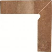 TES81383 Scandiano Rosso Цоколь правый структурный 2-х элем. 30х8,1 30x81