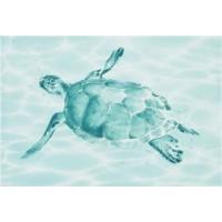 Керамическая плитка для ванной морская волна DWU07LAG636 Уралкерамика