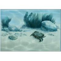 Керамическая плитка для ванной морская волна 7КБ606 Уралкерамика