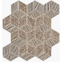Lumina Glam Taupe Cube Mosaico 22,6x26