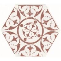 TES99587 Marakech Agadir Granate Hexagon 15x15