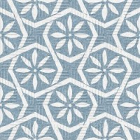 22723  AREA15 BOTANIC BLUE 15X15 15x15